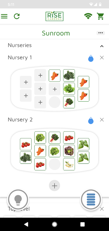 App with plants in the nursery