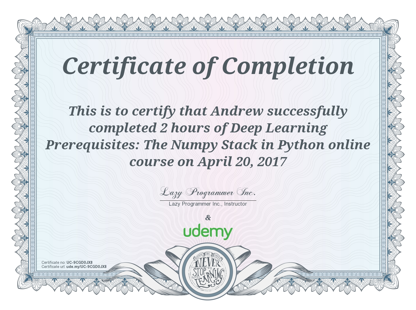 Review of Udemy's 'Deep Learning Prerequisites: The Numpy Stack in