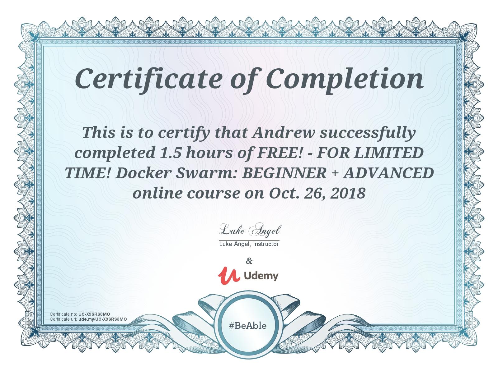 Review of Udemy's Docker Swarm: Beginner + Advanced · Ponderings of